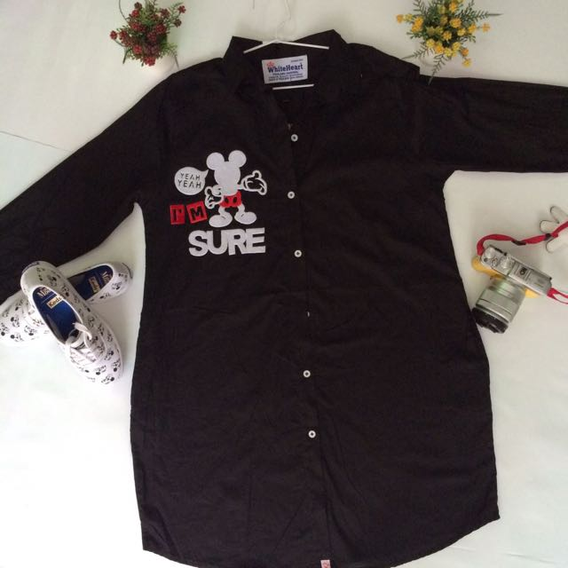 BLACK MICKEY CASUAL DRESS