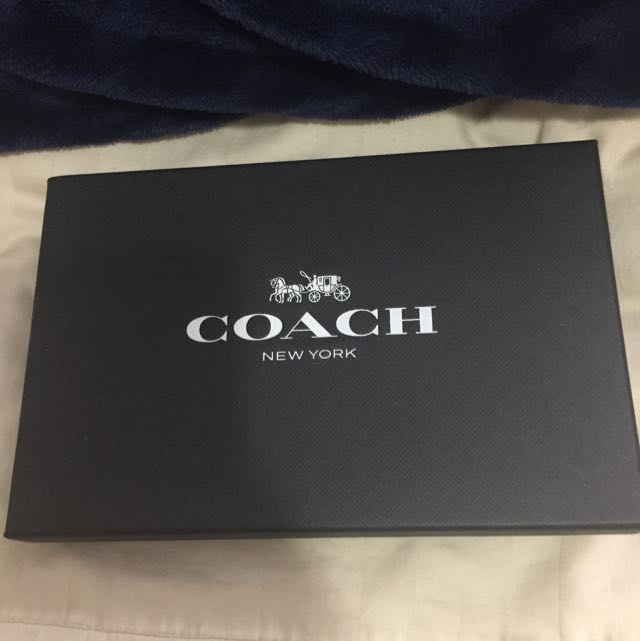 Brand new and Authentic COACH 3pc MEN's wallets And Keychain Set