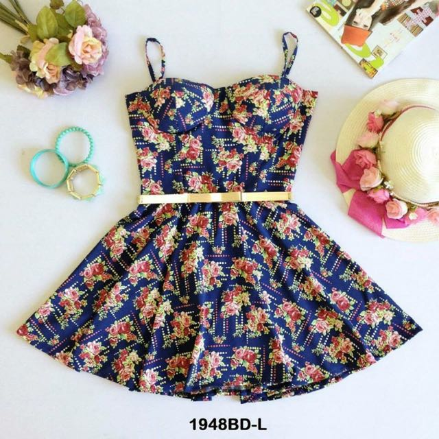 Brand New Small Floral Bustier Dress