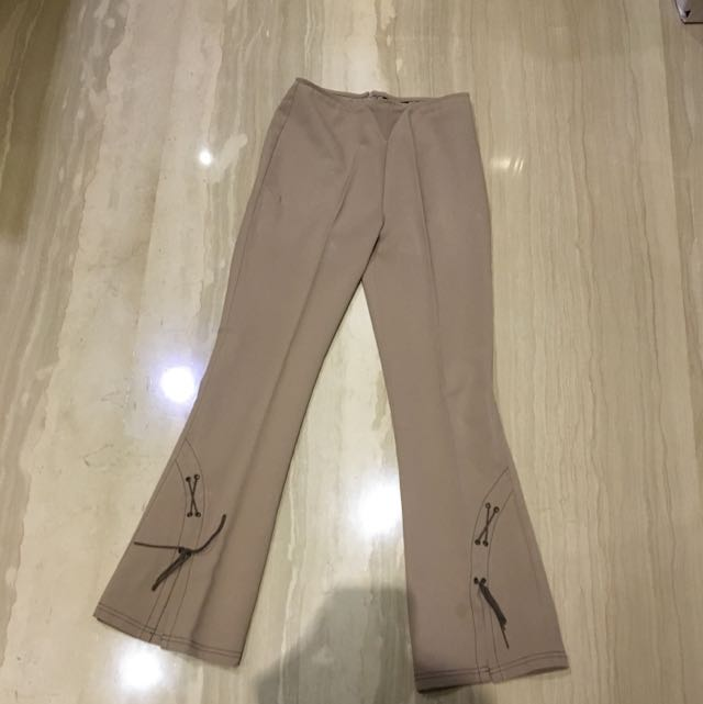 Brown/ Nude Flare Pants