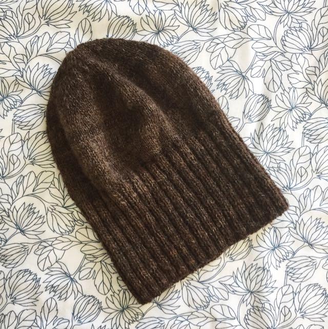 Brown Wool Beanie