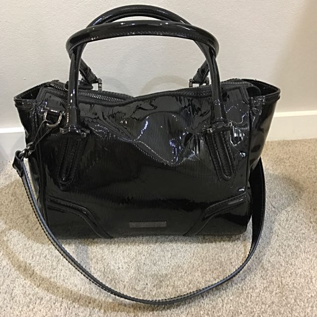 Burberry Patent Leather Bowler Bag