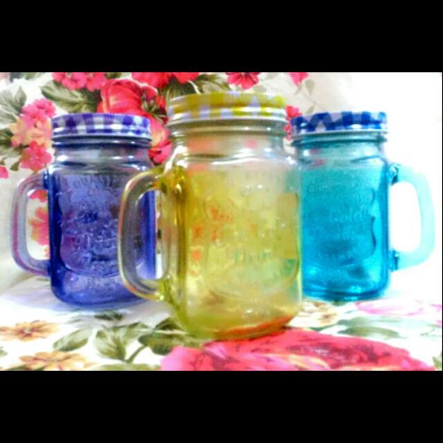 Colorful Mason Mugs
