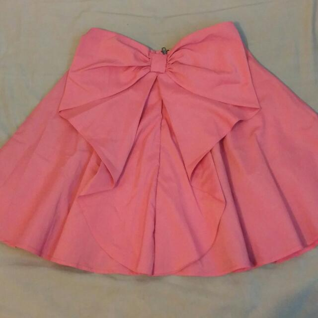 NEW Cute Bow Flared Skirt