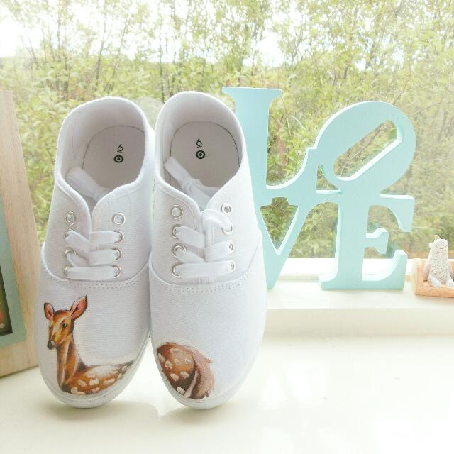 Deer Hand-painted Shoes
