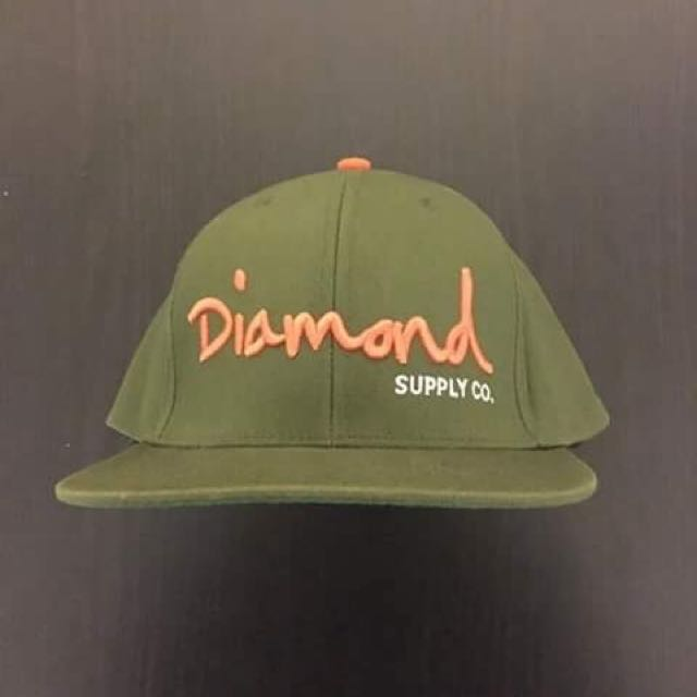 Diamond Supply Co. Olive Green Snapback