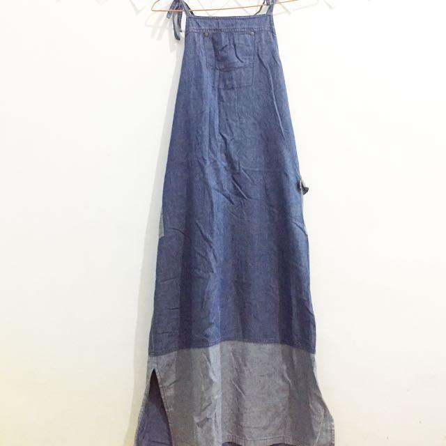 [REPRICE] FREE ONGKIR Dress Denim Wanita