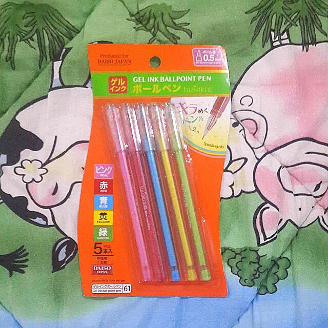 Gel Ink Ballpoint Pen (Daiso)