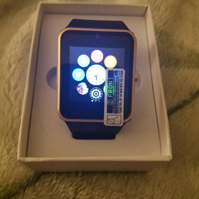 Gold Bluetooth Smart Watch
