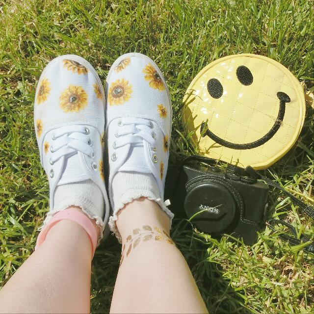 Hand-painted Sunflower Shoes
