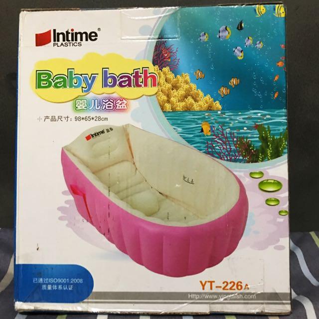 Intime Baby Bath Inflatable Biru