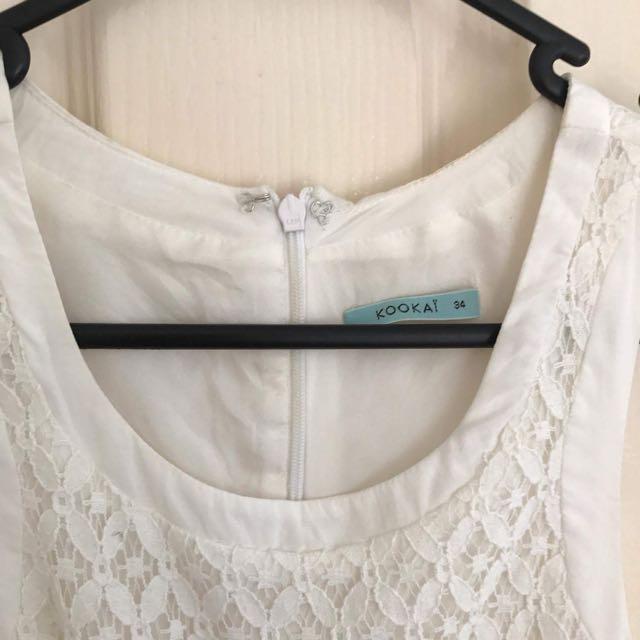Kookai White Lace Dress