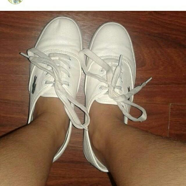 Lacoste White Sneakers Size 7