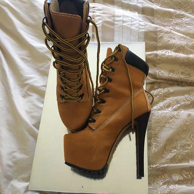 Ladies Timbaland heels SAME AS BEYONCÉ Size 8.5