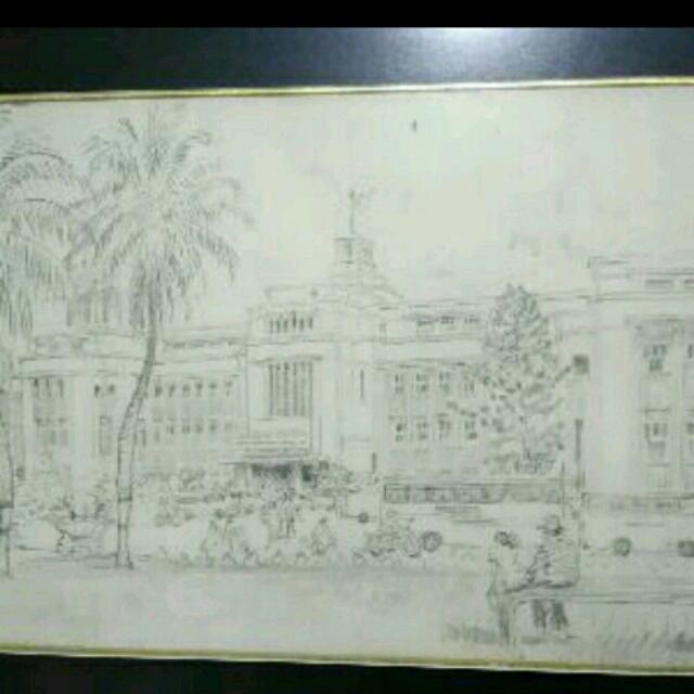 Lukisan Jakarta Kota by X-Ling
