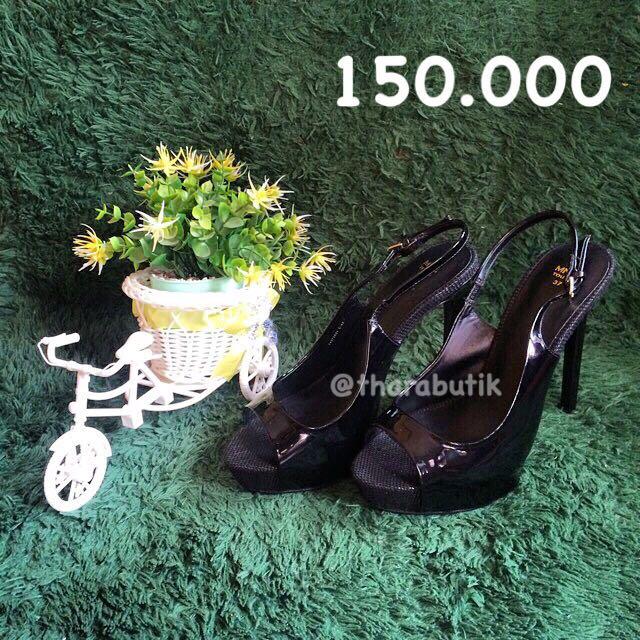 Mango Black High Heels