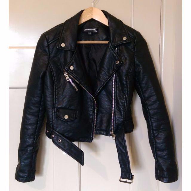Vegan Leather Jacket - Member's Only