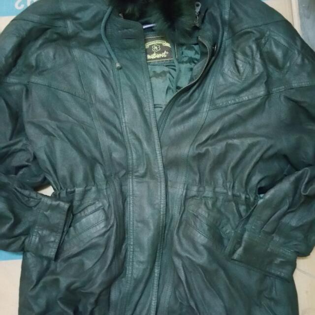 Naturel Leather Hoodie Jacket