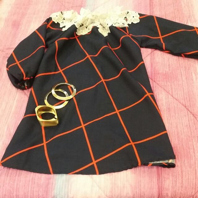 off shoulder dress with lace details