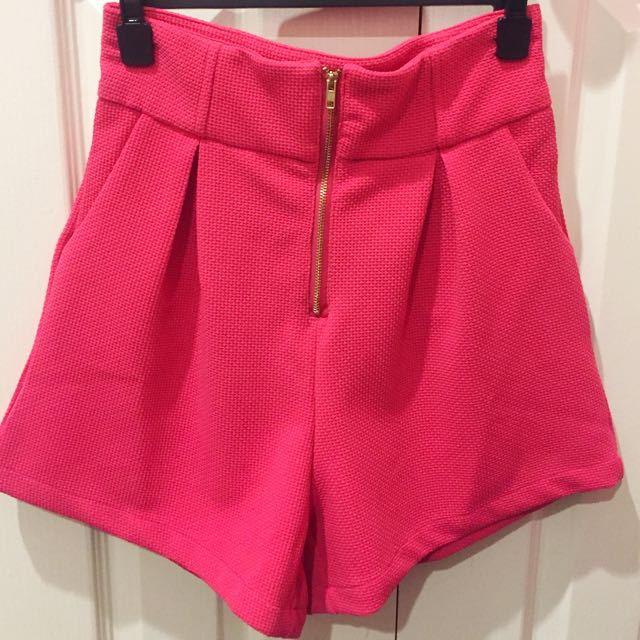 Pink High Wasted Shorts