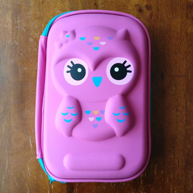 Pink Owl Travel/Makeup Case