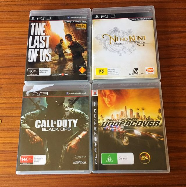 PS3 Games Set Of 4 Excellent Condition