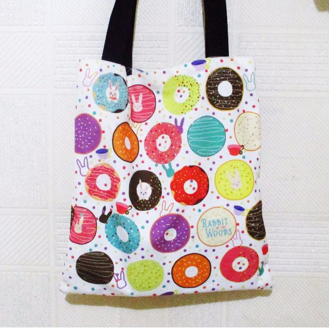 Rabbit x Donut Canvas Tote Bag