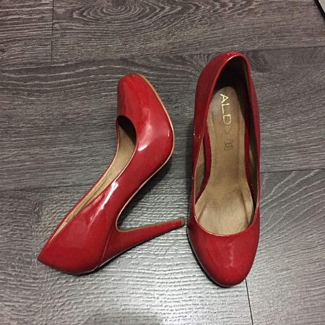 Red Aldo Shiny Heels