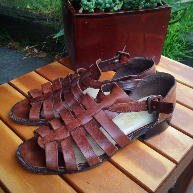 Sandler Real Leather Sandals 7 1/2B