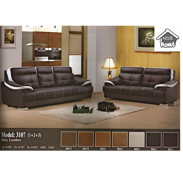 Set Ruang Tamu Mewah Dengan Sofa Bali Leather 2 3 Seater Model 3107 Home Furniture On Carou