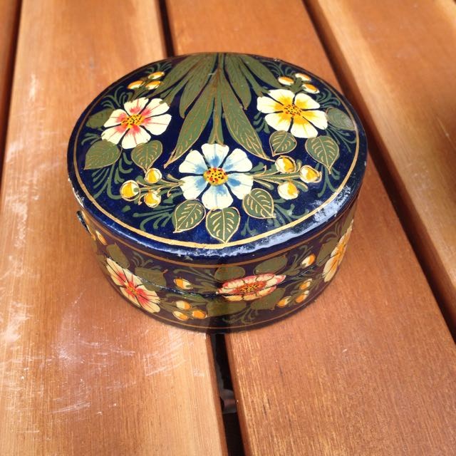 Small Hand Painted Jewellery Box
