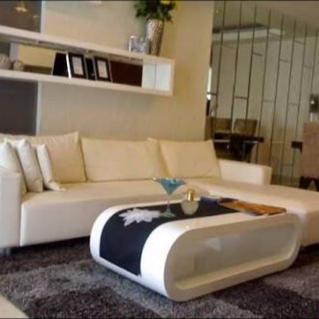 Sofa L Minimalis + Meja