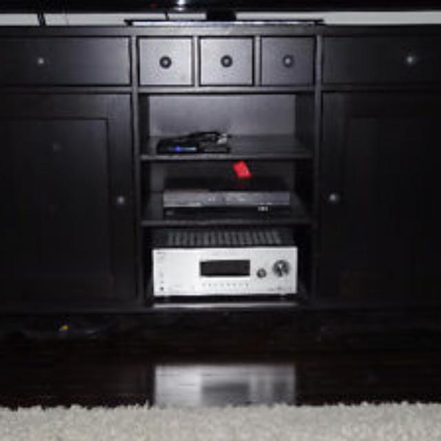 "Solid Dark Wood TV Unit for up to 70"" TV"