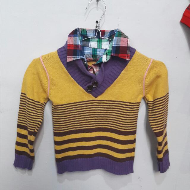 Sweater Anak Cowok Size 3-4tahun