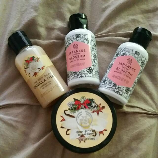 The Body Shop Shower Gel, Body Butter And Body Lotion