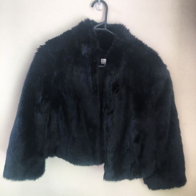 TOKITO Faux Fur Cropped Jacket