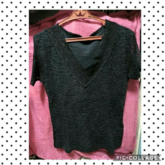Top with lace design (Preloved)