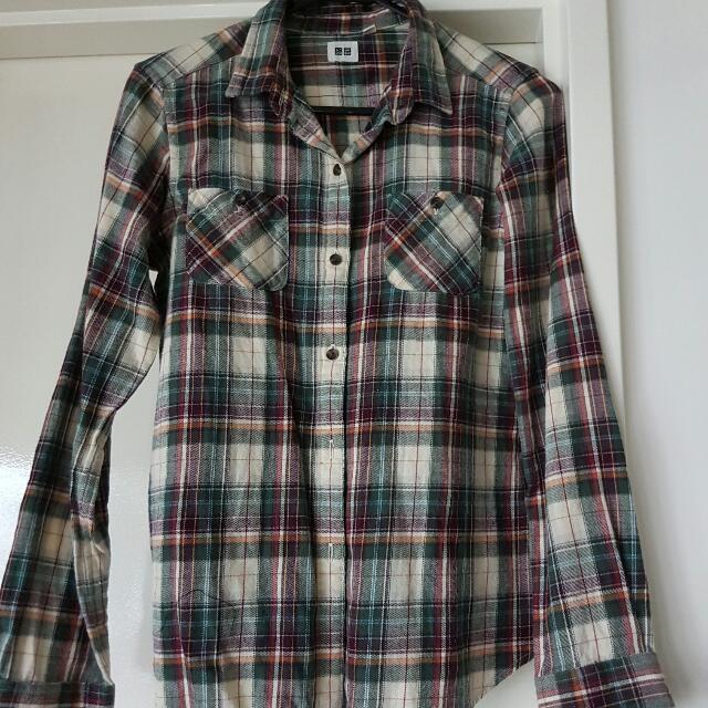 Uniqlo Chequered Shirt Size M