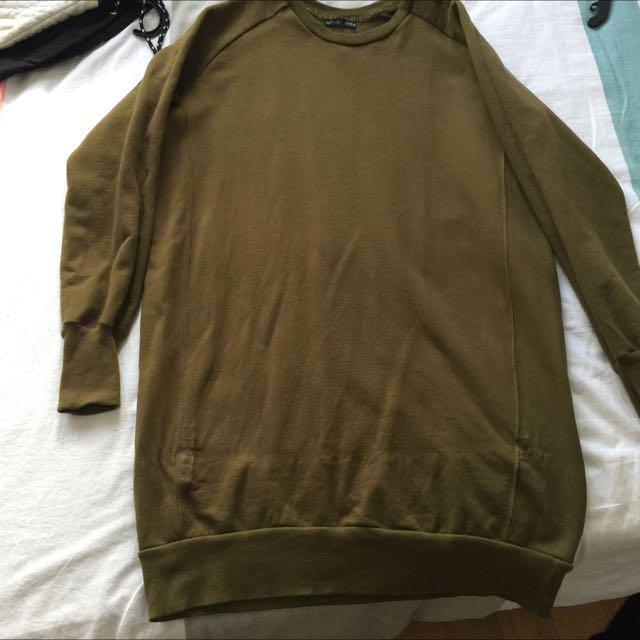 Zara Jumper Dress Khaki