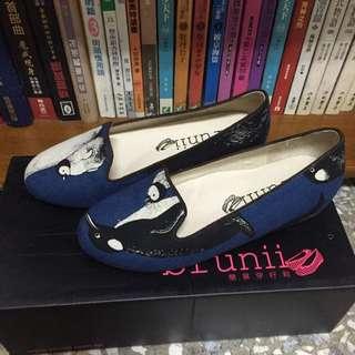 Brunii 藍色企鵝娃娃鞋
