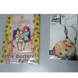 Komari Keychain and Little Busters Refrain Card Sticker