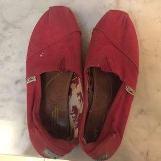 Toms Red Slip On