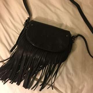BLACK FRINGE ALDO BAG