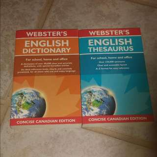 Webster English Dictionary And Thesaurus Set
