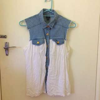 Cotton On Denim Detailed Blouse