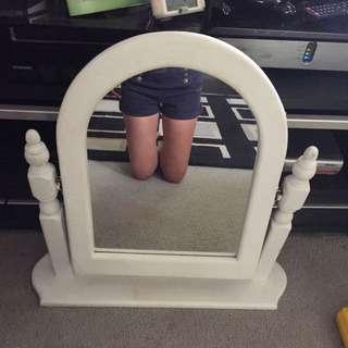 White Mid Size Mirror