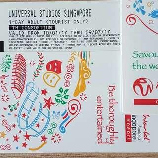 Universal Studio Singapore Physical Tickets