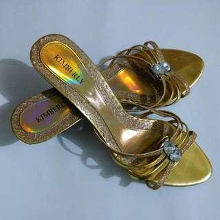Kimberly Gold Heels