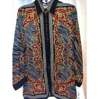 """Silky Shirt """"Versace"""" Pattern"""