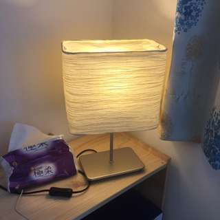 IKEA 超有質感 溫馨紙製床頭燈